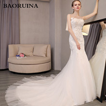 Vestidos de Novia Sexy Backless Mermaid Wedding Dress 2017 Lace Appliques Robe de Mariage Court Train Matrimonio Trouwjurk