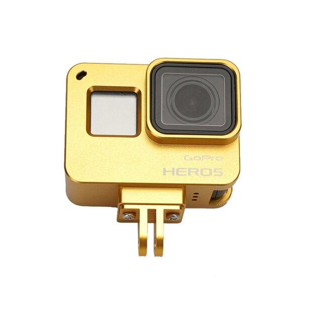 Go Pro Hero 5 Черный Корпус Камеры Алюминиевый Сплав Защитная Рамка Гора Тепловыделение для Gopro Hero5 Камеры Аксессуары