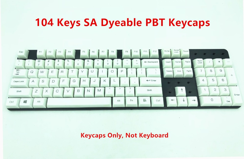 Mouse & Keyboards Black White Abs Russian Language Keycaps For Cherry Mx Switches Mechanical Keyboard Caps 108 Key Cap Computer Peripherals