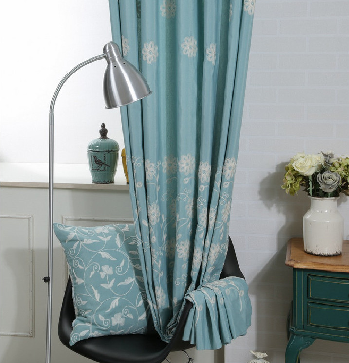meisjes slaapkamer gordijn katoenen geborduurde venster gordijnen ...