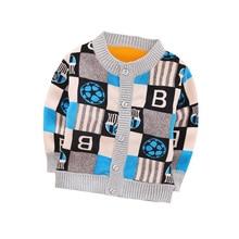 Autumn Winter New Baby Sweater Plus Velvet Warm 12 Styles Cartoon Sweater For Boy 0-2 Year Children Girls Sweater