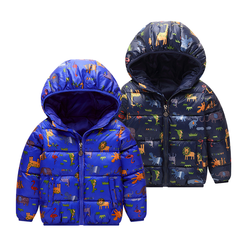 Cartoon Cute Jacket Kids Coat Winter hooded Down Jackets Teens Boys Girls Warm Coats Windproof Outerwear Children Clothing girls down coats girl winter collar hooded outerwear coat children down jackets childrens thickening jacket cold winter 3 13y