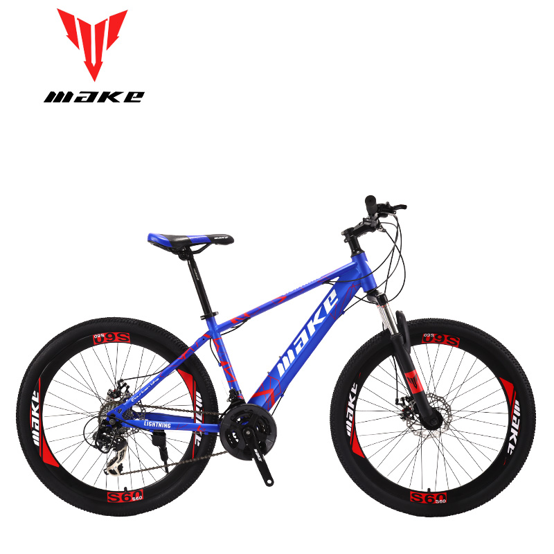 Make Steel Frame, Mountain Bike 26 Wheel, 24 Speed SHIMANO MTB