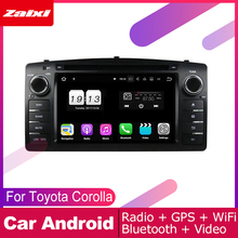 цена на ZaiXi android car dvd gps multimedia player For Toyota Corolla 2004~2012 car dvd navigation radio video audio player Navi Map