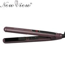 Buy NewView Ceramic Anion Professional Hair Straightening Flat Iron Intelligent Digital Hair Curler Styling Tools Straightener