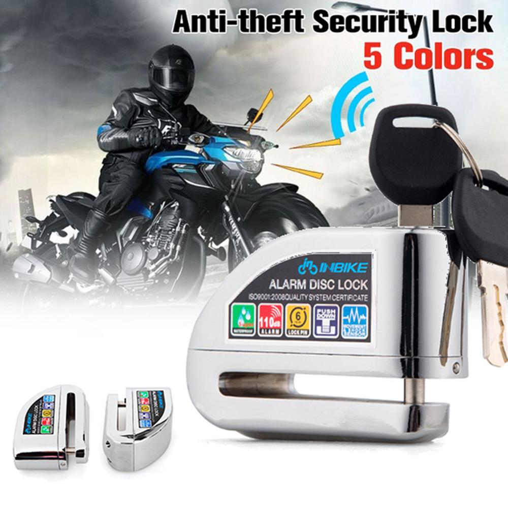 Motorcycle Scooter Motorbike Security Anti-theft Wheel Disc Brake Alarm Lock