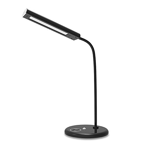 ToJane Professional Recharge 8W LED Desk Lamp with Adjustable 5 Modes Brightness&Color Flexible Rotation Table Lamp for Reading super bright led desk lamp 15w slide control metal table lamp 6 level brightness 6 color modes adjustable reading lights