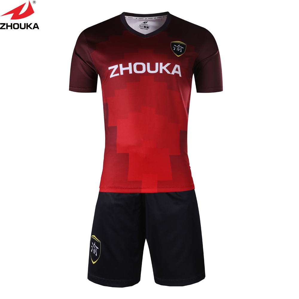 Wholesale Custom Youth Club soccer jersey Design Your Team Sports Uniform Top quality personalised sublimation soccer jersey