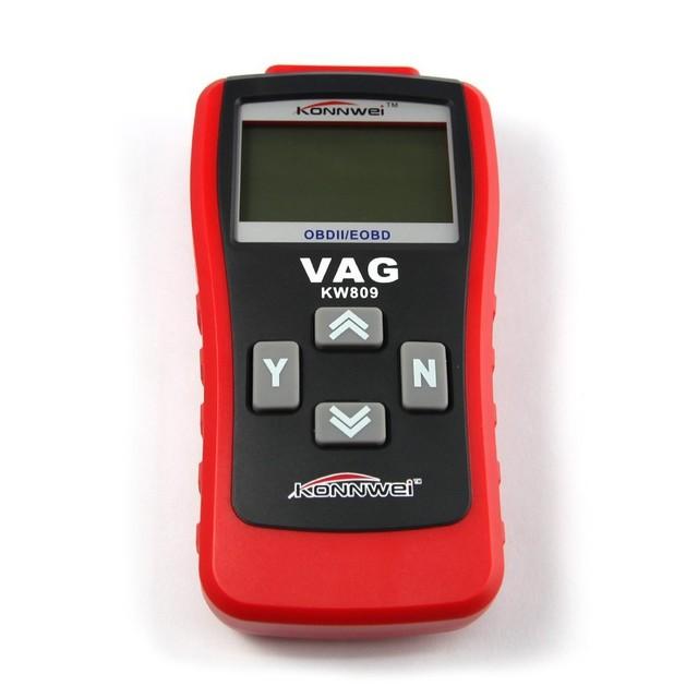 Herramienta de diagnóstico de VAG CAN OBD2 KW809 Leer y Borrar Los Códigos de Diagnóstico De Motor/ABS/Airbag/Transmisión/Control de clima