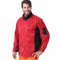 Schweißen Jacke Flamme/Wärme/Abrieb Beständig Arbeiten Tücher Flammschutzmittel Baumwolle Arbeiter Jacke für Arbeits Schützen