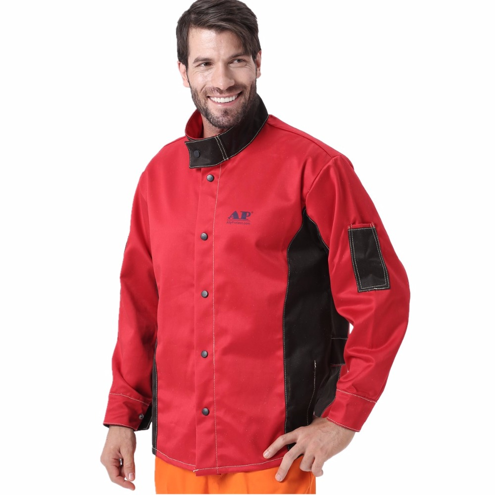 Welding Jacket Flame Heat Abrasion Resistant Working Cloths Flame Retardant Cotton Worker Jacket for Working Protect