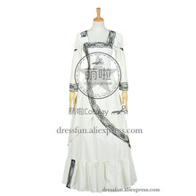 Who Buy The Doctor Cosplay Dorothy Ace McShane Costume Formal Dress White Party Long Lolita Dress Halloween High Quality