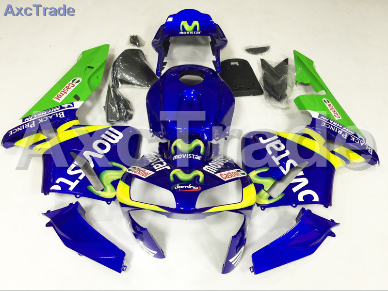 Motorcycle Fairings For Honda CBR600RR CBR600 CBR 600 RR 2003 2004 03 04 F5 ABS Plastic Injection Fairing Kit Bodywork Blue A586 abs injection fairings kit for honda 600 rr f5 fairing set 07 08 cbr600rr cbr 600rr 2007 2008 castrol motorcycle bodywork part