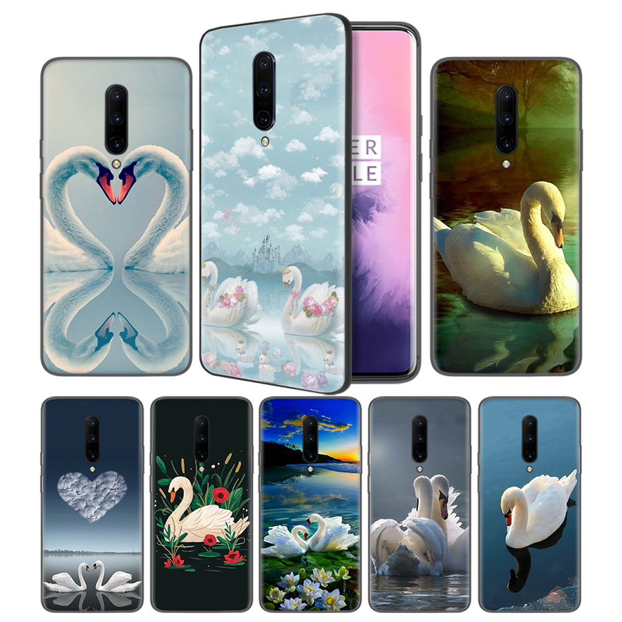 Animal Swan Good looking Soft Black Silicone Case Cover for font b OnePlus b font 6