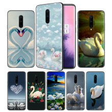 Animal Swan Good-looking Soft Black Silicone Case Cover for OnePlus 6 6T 7 Pro 5G Ultra-thin TPU Phone Back Protective