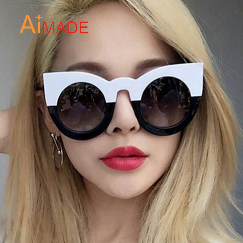 Aimade 2018 New Fashion Cute Oversized Cat Eye Sunglasses Women Brand  Designer Big Cateye Sun Glasses For Female Outdoor Shades-in Sunglasses  from Apparel ... 89083a06e