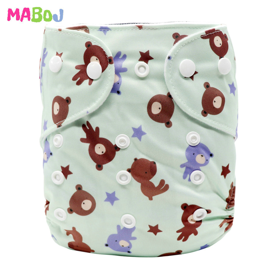 MABOJ Diaper Baby Pocket Diaper Washable Cloth Diapers Reusable Nappies Cover Newborn Waterproof Girl Boy Bebe Nappy Wholesale - Цвет: PD5-5-10