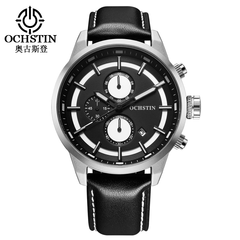 Sport Watch Men Top Luxury Brand OCHSTIN Men's Quartz Clock Male Leather Casual Business Military Watches Relogio Masculion oubaoer fashion top brand luxury men s watches men casual military business clock male clocks sport mechanical wrist watch men