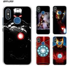 Pour Xiao mi rouge mi Note 7 Go 6 6A Pro S2 5 Plus 4X mi Play 8 lite A2 A1 boîtier en plastique dur transparent super-héros ironman(China)
