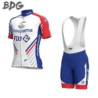 2018 new Pro team groupama FDJ cycling jerseys Bicycle maillot breathable Ropa Ciclismo MTB Short sleeve bike cloth 3D GEL