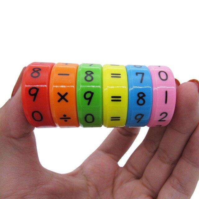 6 piezas rompecabezas magnéticos juegos de mesa Montessori tablero educativo juguete para niños números de matemáticas DIY ensamblaje rompecabezas juegos de mesa