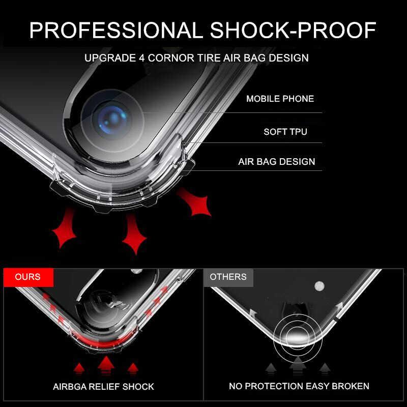 Прозрачный мягкий силиконовый ударопрочный чехол для huawei P10 P20 P30 Lite Plus Pro Clear Броня Крышка для Коврики 10 20 Lite Nova 3 3i 4