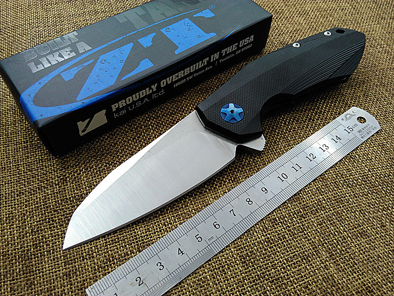 2016 New ZT 0456 pocket font b tactical b font folding knife Flipper ball bearing D2