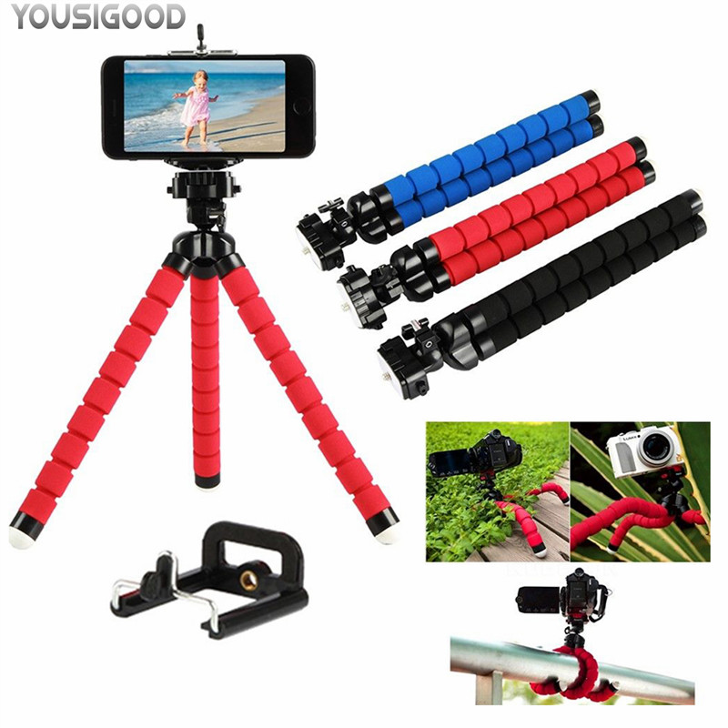 Flexible Octopus Leg Phone <font><b>Holder</b></font> <font><b>Smartphone</b></font> Accessories Stand Support For Mobile Tripod For Phone for xiaomi HTC note image