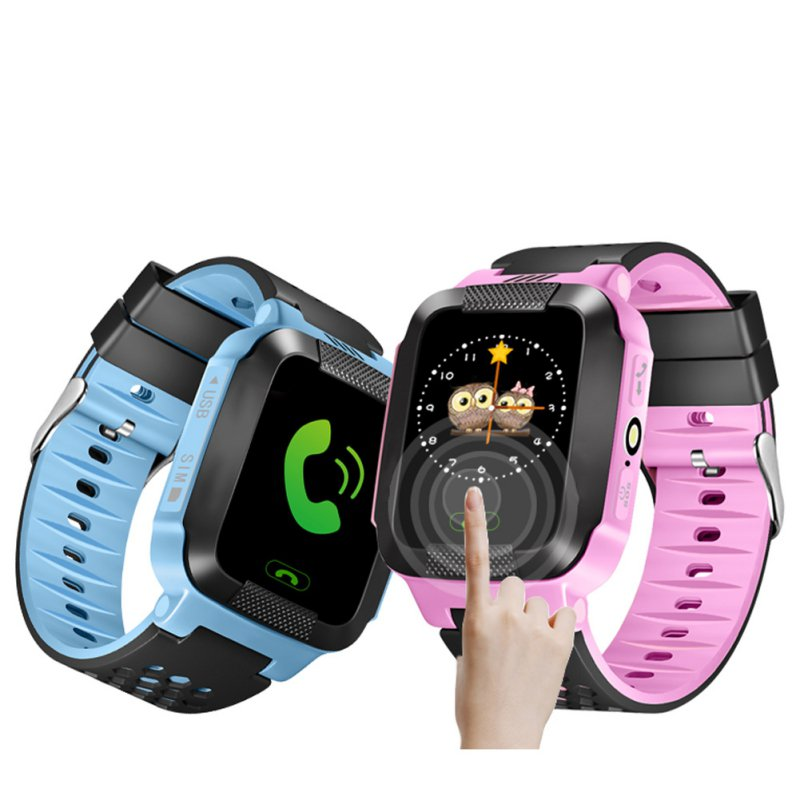 Hold Mi Q90 GPS Phone Positioning Children Watch 1.22 Inch Color Touch Screen WIFI SOS Smart Watch Baby Q80 Q50 Q60 Find