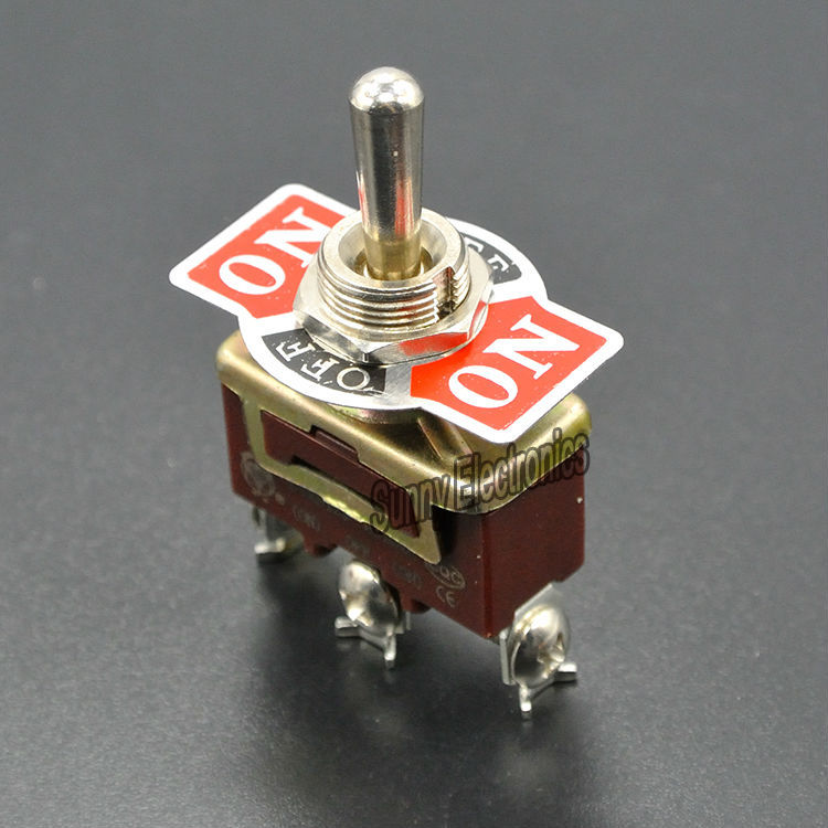 20pcs Momentary 3pin (ON)-OFF-(ON) Centre Off toggle switch 3 screw momentary toggle switch15A 250VAC20A 125V Free shipping