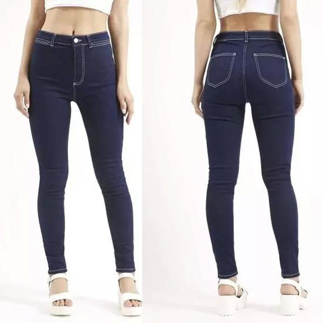 High Elastic Women Slim Skinny Jeans Fashion Women Denim Pencil Pants Blue Black Full Length High Waist Jeans Trousers Plus Size