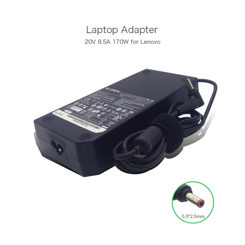 Prix pour Rongtop meilleur vente véritable 20 v 8.5a 170 w 5.5x2.5mm ac dc adaptateur pour lenovo y500 y500n 45n0111 36200232 ordinateur portable alimentation