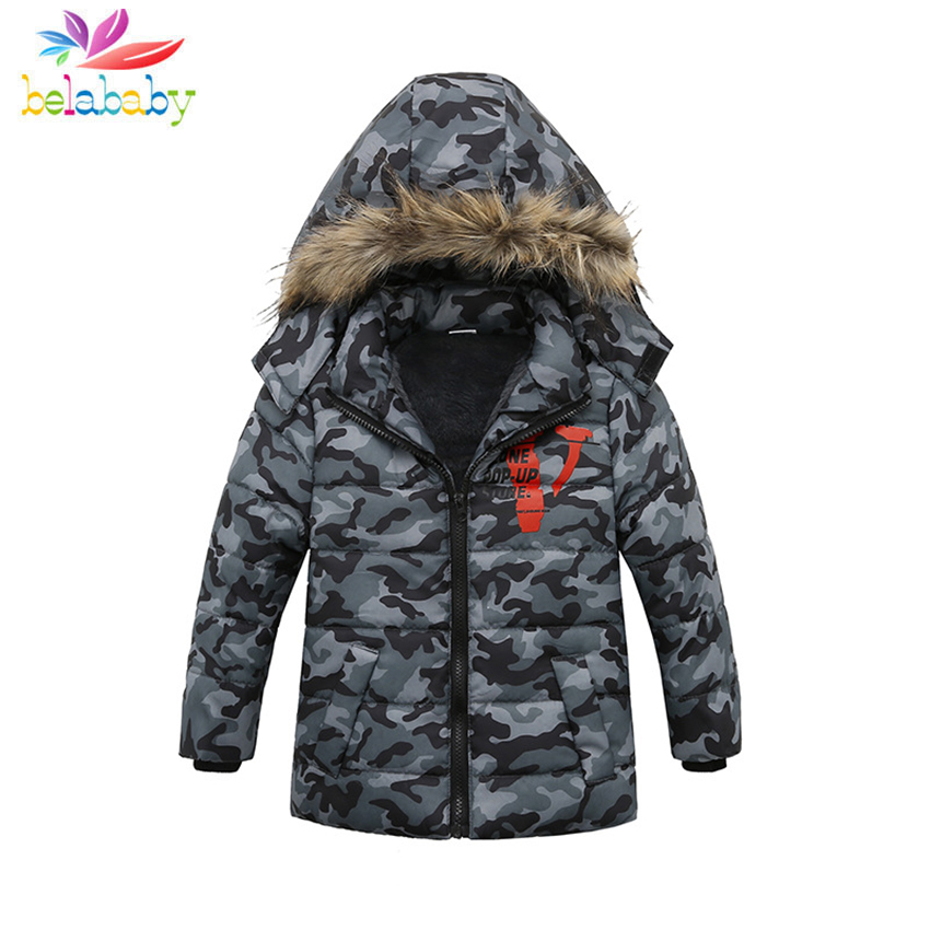Belababy New Baby Winter Coat Hooded Pattern Print Velvet Down Jacket For Boys&Girls Kids Stitching Zipper Clothes Warm CoatBelababy New Baby Winter Coat Hooded Pattern Print Velvet Down Jacket For Boys&Girls Kids Stitching Zipper Clothes Warm Coat