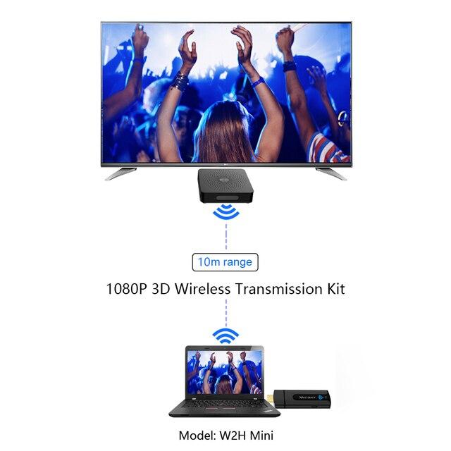 Extension HDMI sans fil measy w2h mini DHMI V1.4 1080 P jusquà 15 m transmetteur et récepteur vidéo/Audio prise en charge HDCP 1.3 3D DTS DSD