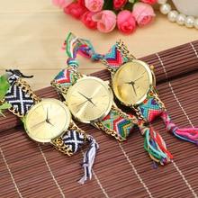 Vansvar Fashion Braided Friendship Bracelet Geneva Watches Hand Made Women Quartz Watches Relogio Mujer Drop Shipping 1165