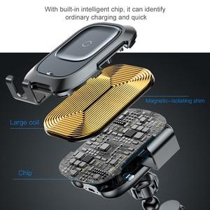 Image 5 - Baseus אלחוטי לרכב מטען עבור iPhone Xs Max Xr X סמסונג S10 S9 אנדרואיד טלפון מטען מהיר Wirless טעינה לרכב טלפון בעל