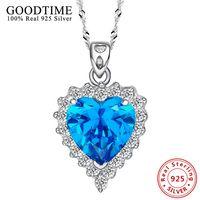100 925 Sterling Silver Apple Shape Angel Wings Pendant Necklaces Pure Sterling Silver 925 Necklace Collar