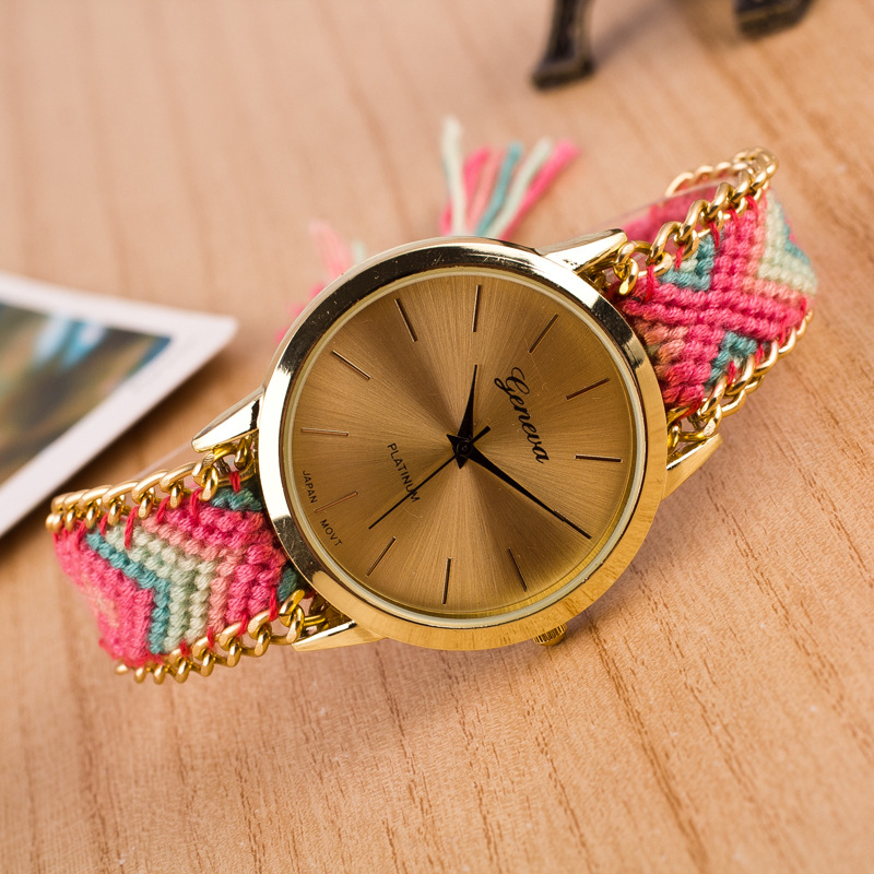 2017 Top Luxury Brand Handmade Friendship Relojes Mujer Bracelet Quarzt  Watch Hand-Woven Watch Ladies Watch Montre Femme Clock