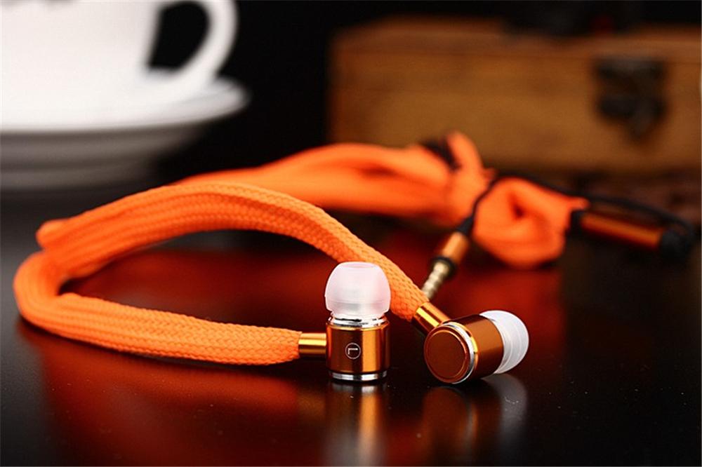 шнурки наушники стерео металл бас звук наушники гарнитуры музыка наушники с микрофоном для iPhone просо samsung спорт