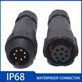 Соединитель кабеля IP68, водонепроницаемый, штекер и гнездо, 2/3/4/5/6/7/8/9/10/11/12 Pin, быстрое подключение для использования на открытом воздухе