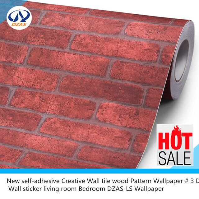 New self adhesive Creative Wall tile wood Pattern Wallpaper 3 D Wall ...