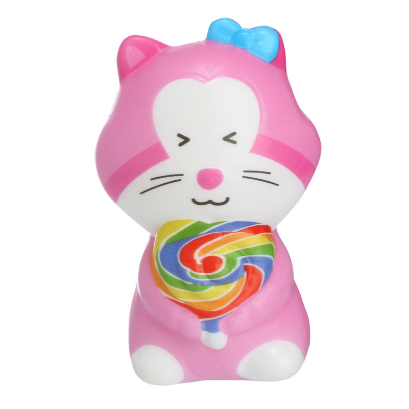 Squishies Toy Kawaii Adorable Cat Toy Slow Rising Cream Scented Stress Relief Toys Gifts Kawaii Stationery Wipes Anti-stress E1