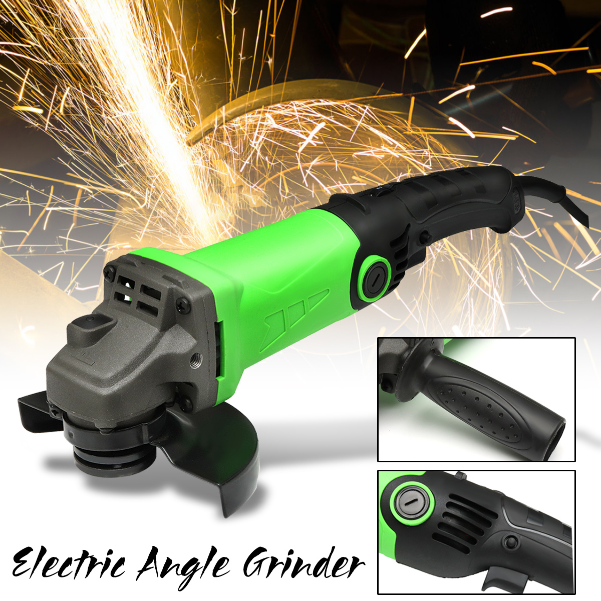 1Pcs 1200W Multi-function Angle Grinder 6 Levels Speed Adjustable Polishing Machine Refit Angle Grind Grinding Drilling Tools vibration type pneumatic sanding machine rectangle grinding machine sand vibration machine polishing machine 70x100mm