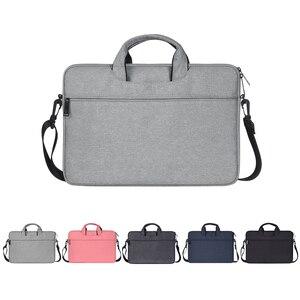 Image 1 - Multi Funktionale Laptop Tasche Sleeve Durchführung Fall mit Gurt für MacBook HP Samsung Acer Asus Dell Lenovo Notebook 13 14 15 zoll
