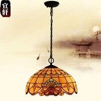 European Baroque Single Head Iron Chandelier Lamp Balcony Bedroom Living Room Warm Vintage Chandeliers 1609c Luminaire Suspendu