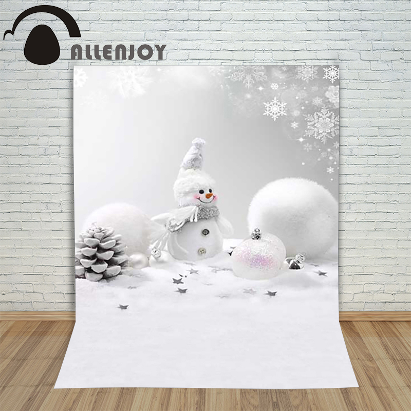 Christmas background for photos Pure white snowman pine cones backdrop photography children's photo shoots Customize photocall christmas background for photos pure white snowman pine cones backdrop photography children s photo shoots customize photocall