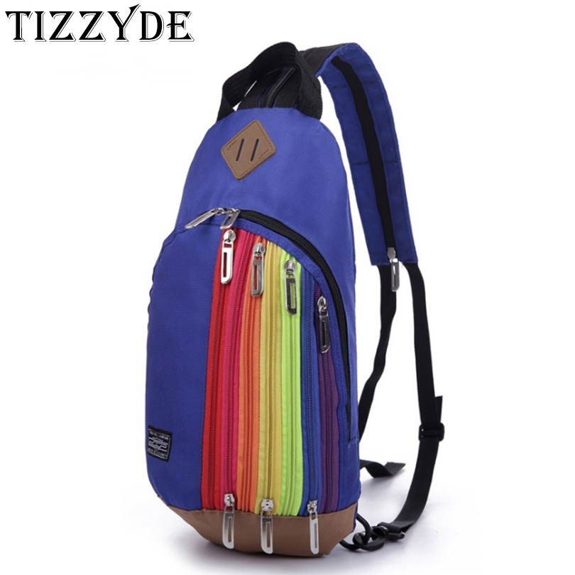 Drop Shipping New Parent-children Dual-use Rainbow Backpack Women Cross-body Chest Bag Korean Girl Boys Small Backpack Hb08