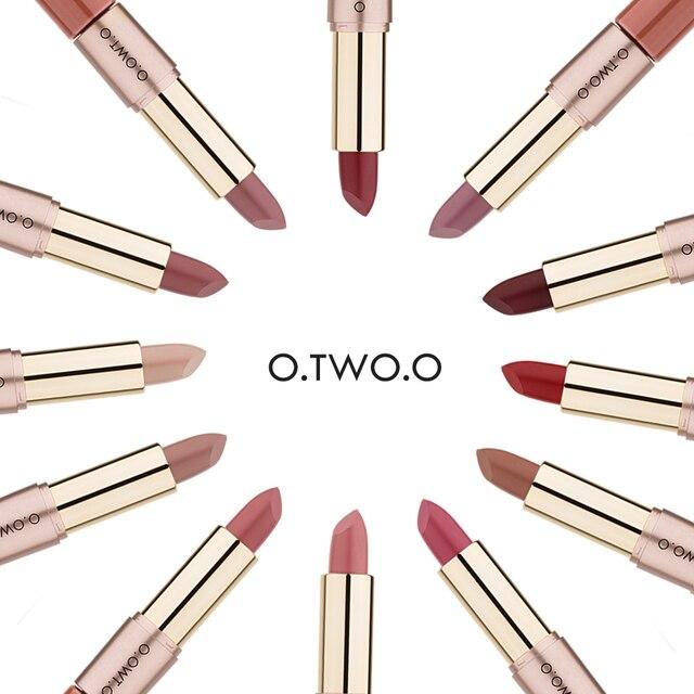 O.TWO.O 2 in 1 Matte liquid Lipstick and Matte Lip gloss Makeup Moisturizing Long Lasting Waterproof Velvet Lipstick 12 Color 3