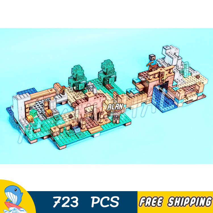 723 шт. мой мир коробка для рукоделия 2,0 дом Шахта пустыня 10733 модель строительные блоки Детские Кирпичи совместимы с Lago Minecrafted