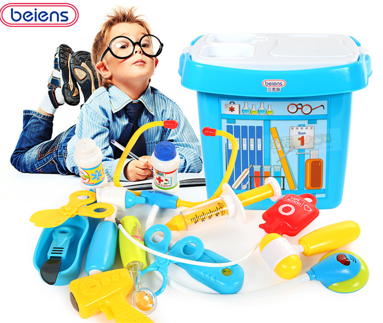 Beiens Doctor Pretend Play Plastic Toy Injection Stethoscope Gift Box Child Medical Kit Toolbox Medical Box Toolbox Set